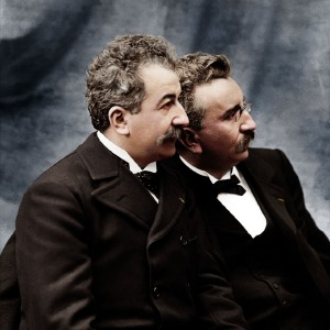 An Image of  Lumiere brothers As The Pioneers of The Film Industry.