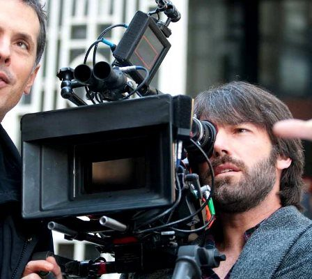 A Film Camera Man Explaining His View To An Actor.