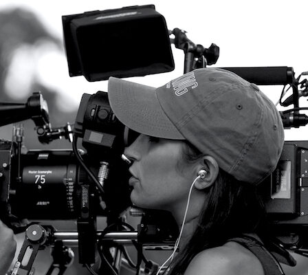 A Female Professional Film Director In An Action.